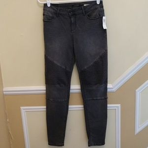 Hot Topic Blackheart Black Moto Skinny Jeans